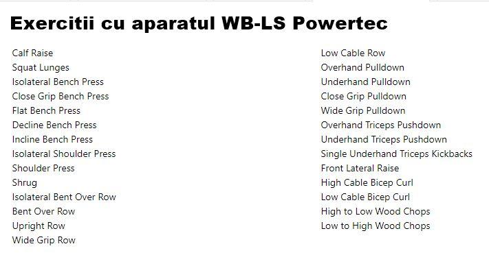 exercitii cu aparatul multifunctional WB-LS