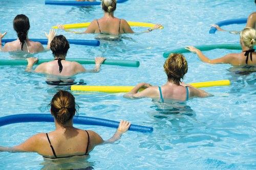 antrenament la piscina