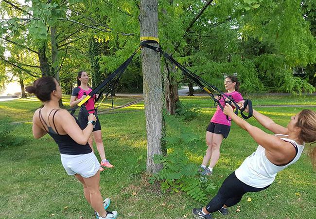 antrenament suspensie in aer liber
